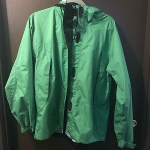 LL Bean Green Raincoat